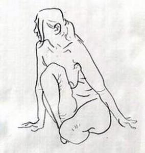 裸婦モデルによるクロッキー会
