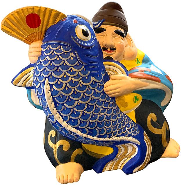 """信州中野土人形""""鯉恵比寿"""""""